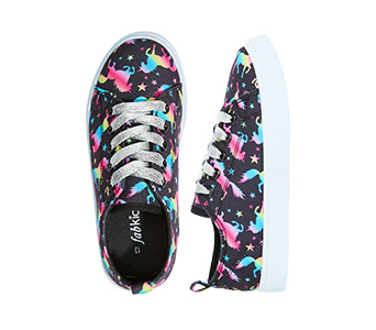Unicorn Bright Lace Up Sneaker
