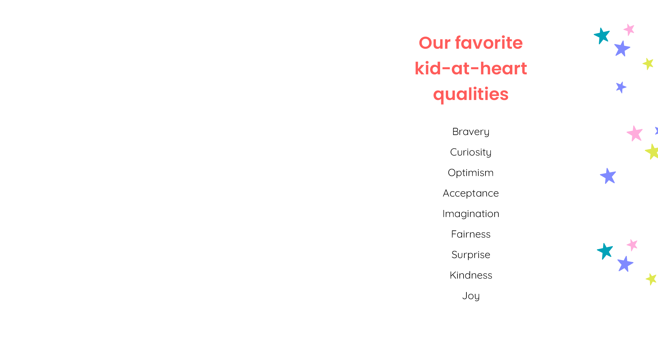 Our favorite kid-at-heart qualities