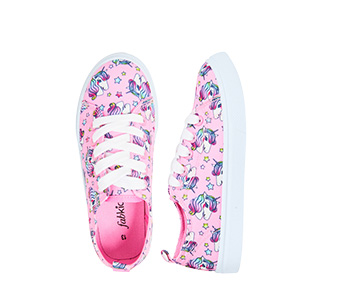 Unicorn Face Lace Up Sneaker