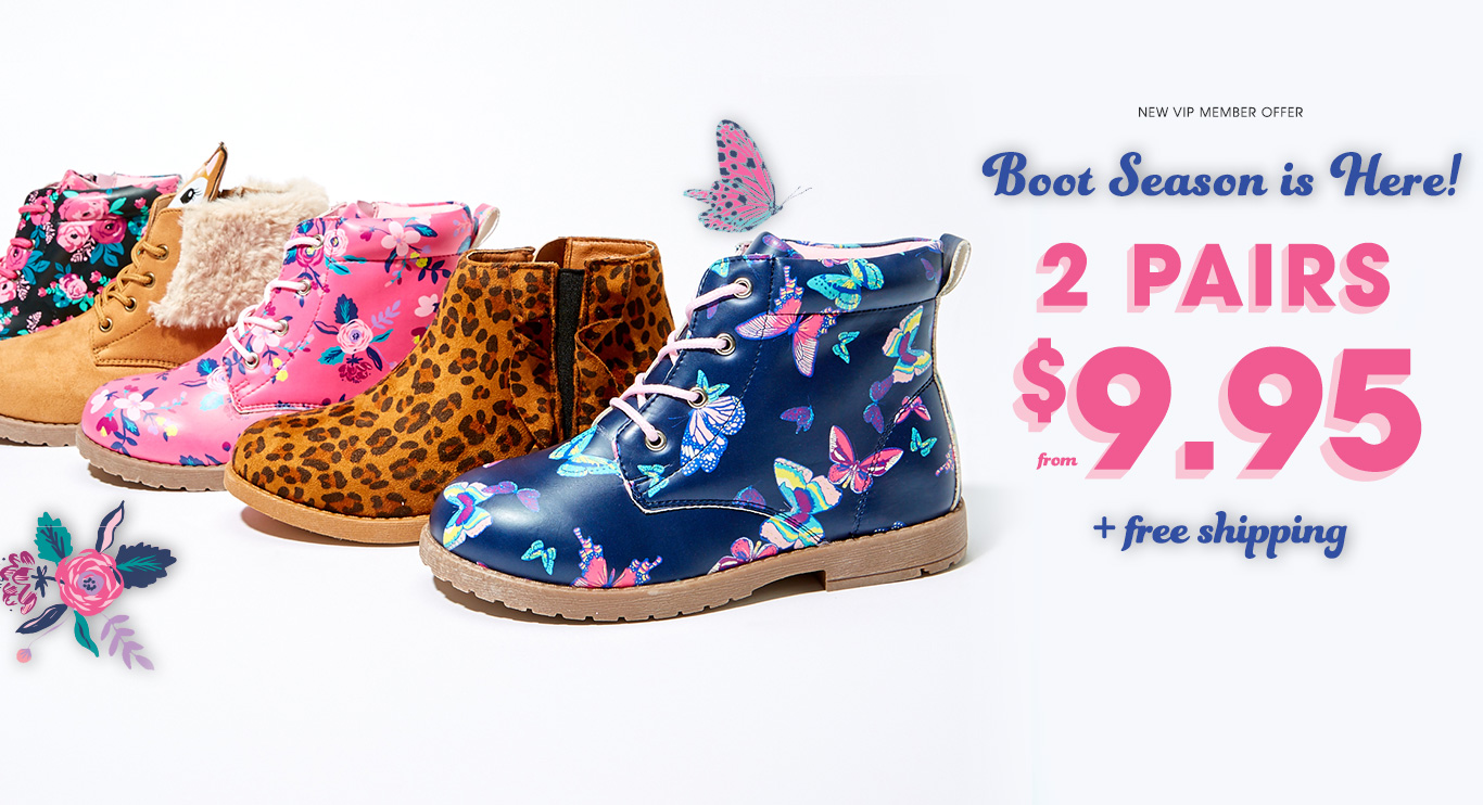 New VIP Member Offer - Boot Season is Here! - 2 Pairs from $9.95 + free shipping