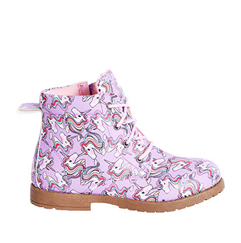 Unicorn Print Lace Up Sneaker
