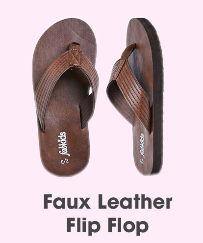 Faux Leather Flip Flop