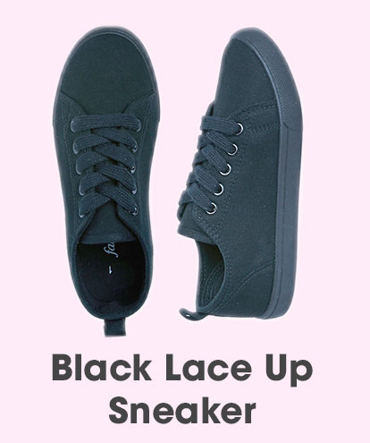 Black Lace Up Sneaker