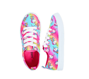 Rainbow Unicorn Lace Up Sneaker