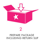 Step 2 - Prepare Package Including Return Slip