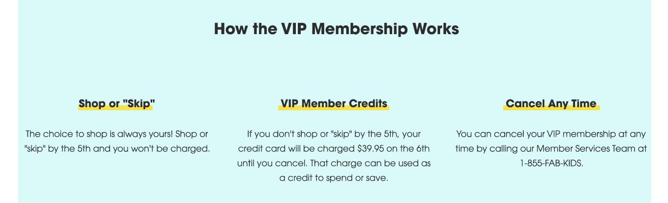 How the VIP Membership Works