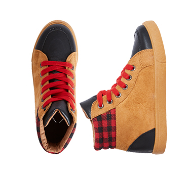 Plaid Flannel High Top Sneaker