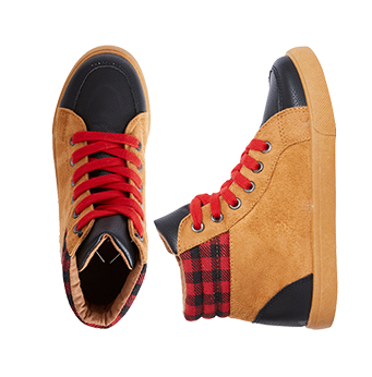 Plaid Flannel High Top Sneaker