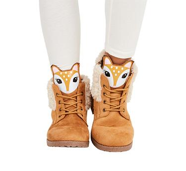 Fur Lined Deer Face Boot