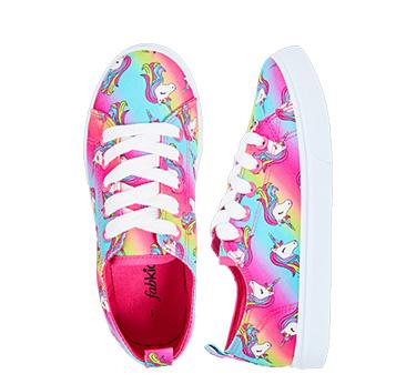 Rainbow Unicorn Lace Up Sneaker