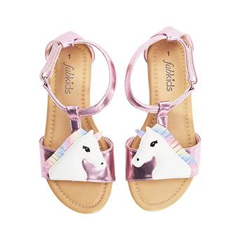 Metallic Unicorn Sandal