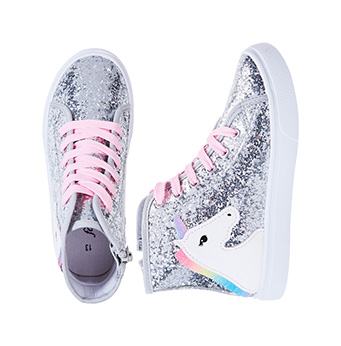 Glitter Unicorn High Top Sneaker