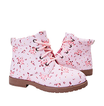 Floral Lace Up Bootie