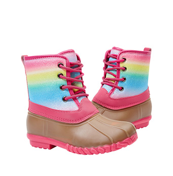 Rainbow Lace Up Boot