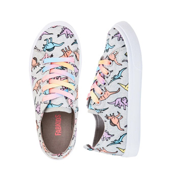 Dino Print Lace Up Sneaker
