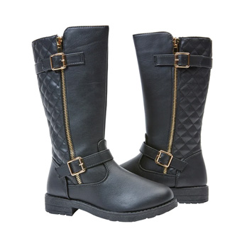 Quilted Tall Moto Boot