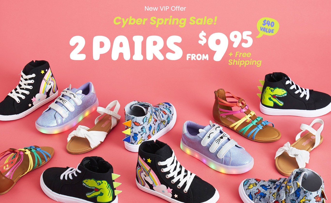 New VIP Offer - Cyber Spring Sale! - 2 pairs from $9.95 + Free Shipping*