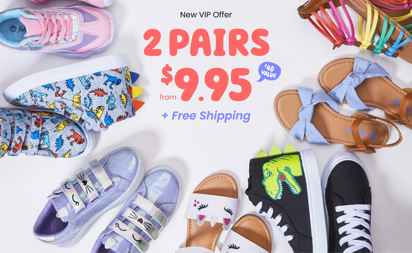 New VIP Offer - 2 pairs from $9.95 + Free Shipping*