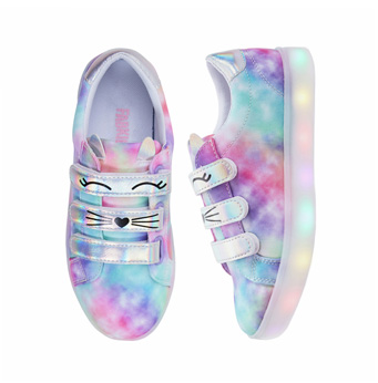 Tie Dye Light Up Cat Sneaker