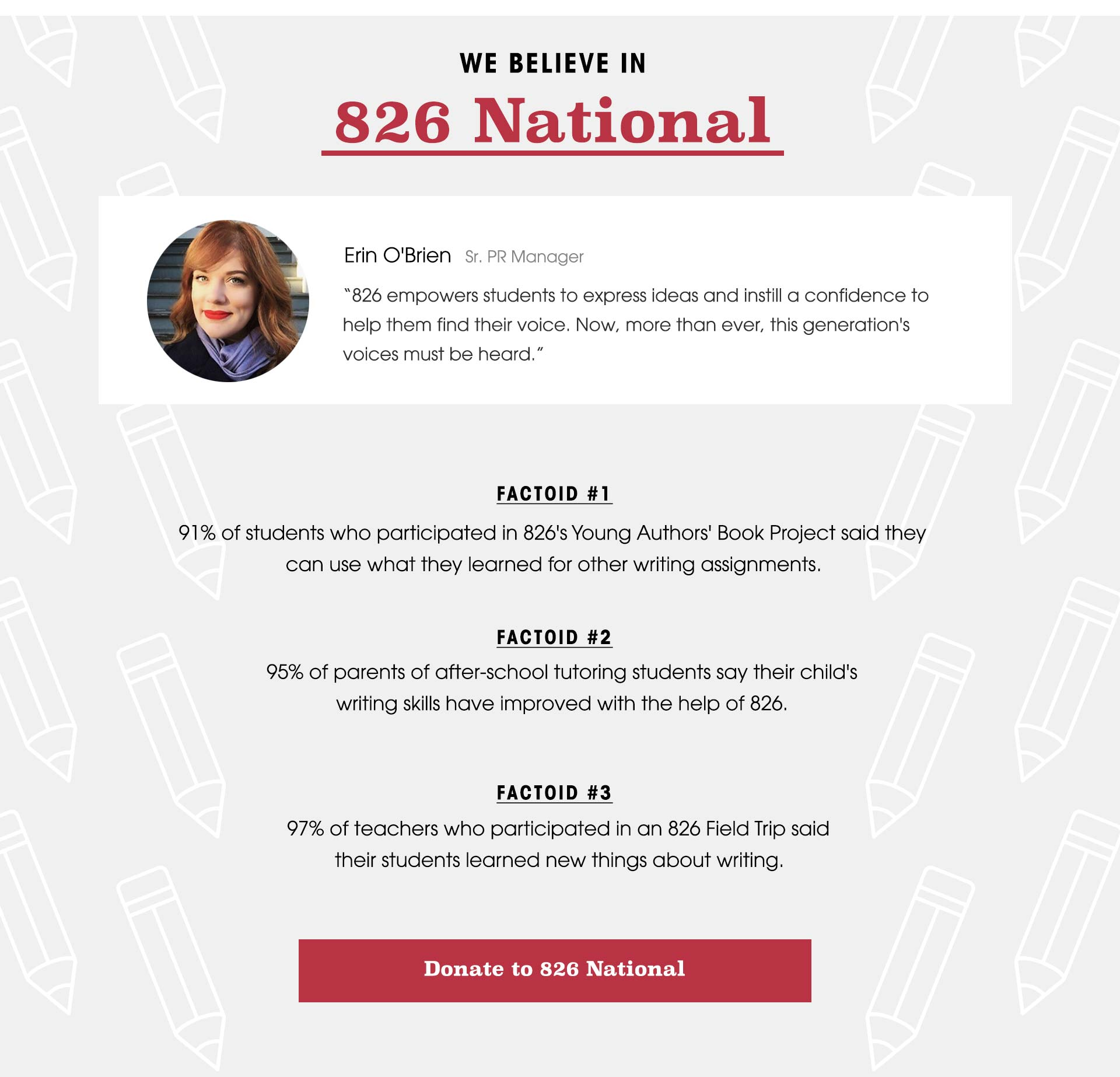 We Believe In: 826 National