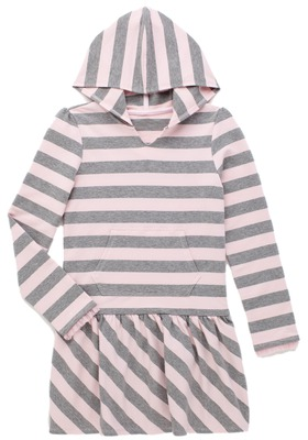 Fab Stripe Hooded Knit Dress