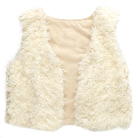 Quilted Fur Vest