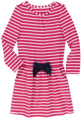 Sporty Stripe Drop Waist Dress