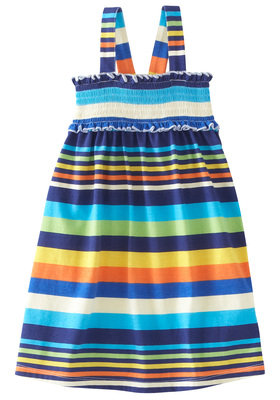 Smocked Stripe Tank Dress