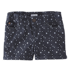 Star Print Denim Short