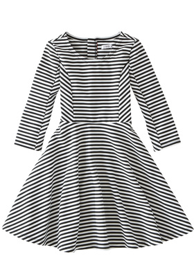 Back Zip Striped Dress