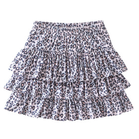 Animal Print Ruffle Skirt