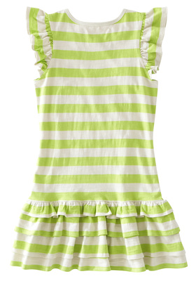 Ruffle Striped Skull Dress