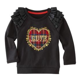 Love On Plaid Sweatshirt