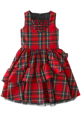 Tartan Ruffles Dress