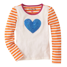 Sequin Heart Stripe Tee