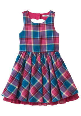 Plaid Heart Back Dress