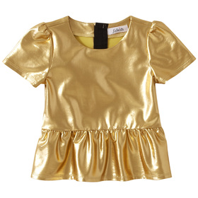 Shiny Peplum Top