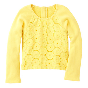 Yellow Eyelet Top