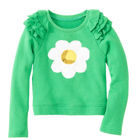 Daisy Sequin Sweatshirt