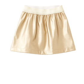 Faux Leather Gold Skirt