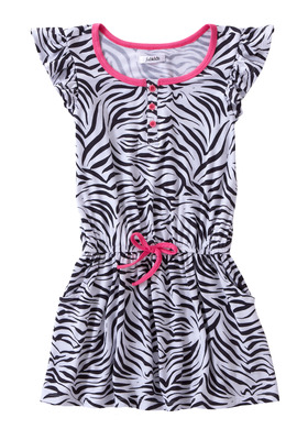 Zebra Ruffle Dress