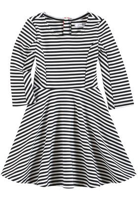 48717e658289e B&W Stripe Skater Dress