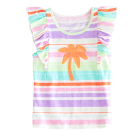 Palm Tree Ruffle Tee