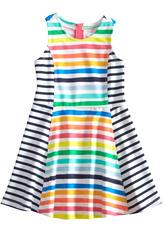 Multi-Stripe Skater Dress