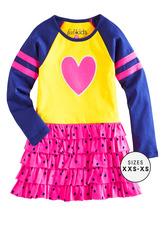 Varsity Ruffle Dress