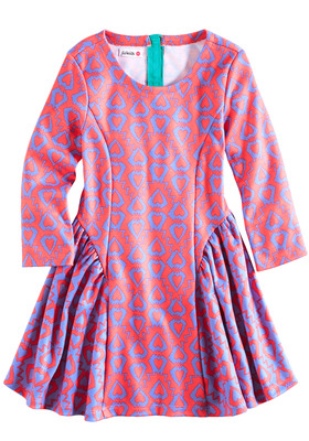 Print Mix Skater Dress