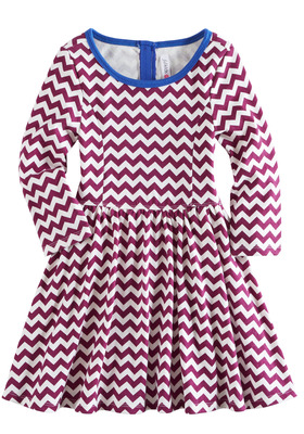 Chevron Babydoll Dress