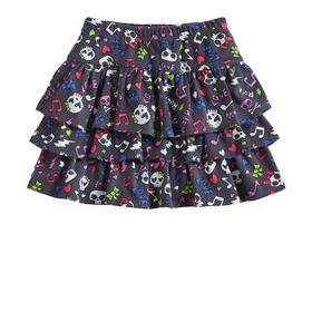Skull Tiered Skirt