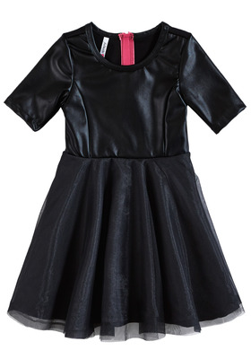 Faux Leather Tutu Dress