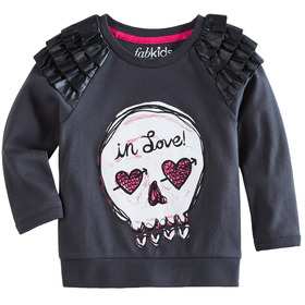 Skull Ruffle Sweatshirt